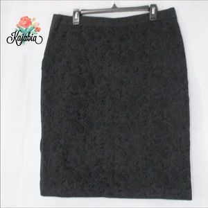 ANNE KLEIN Woven Black L Skirt NWT 💥JUST IN💥